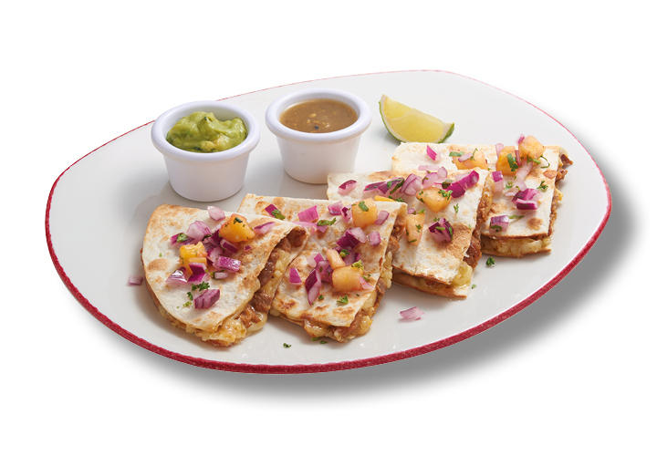 Pastor Meat and Cheese Quesadilla